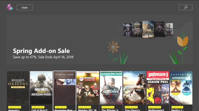 Xbox live sale04/10/2018